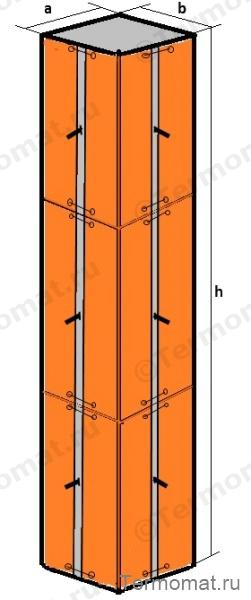 Прогрев  колонны с выступающими элементами крепежа опалубки.jpg