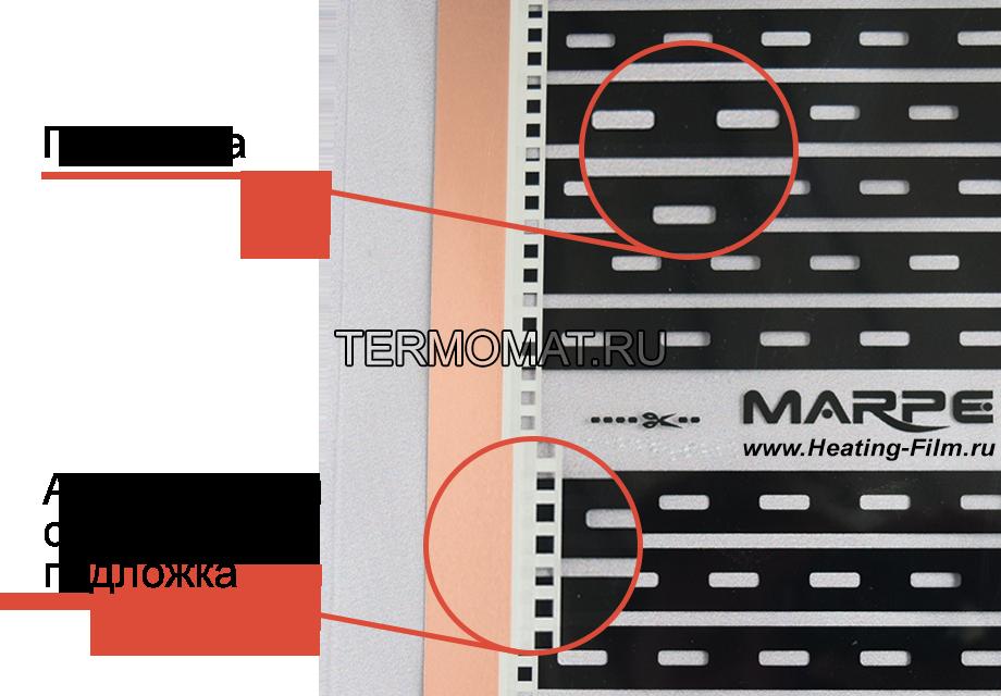 Особенности пленочного теплого пола Marpe Стандарт