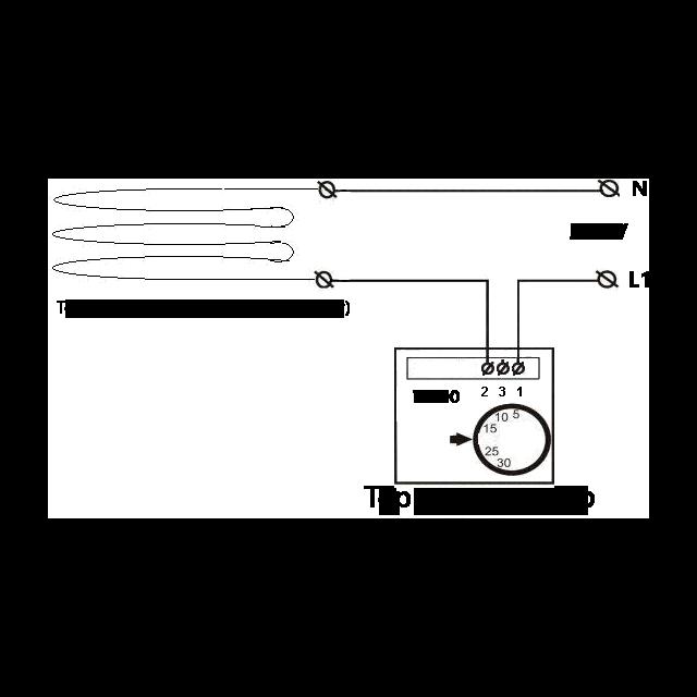 Схема подключения механического терморегулятора 359